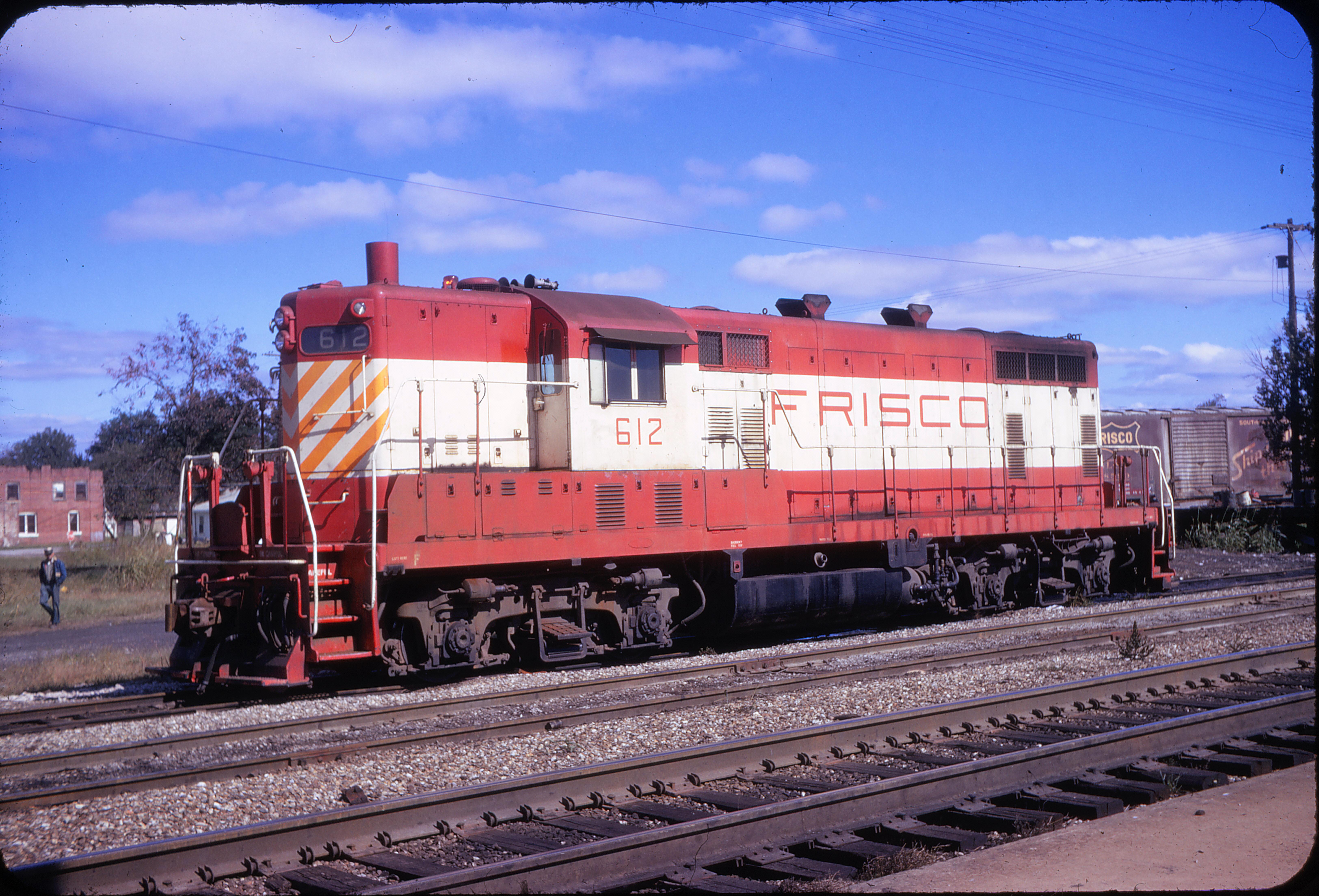 GP7 612 at Hoxie, Arkansas on October 23, 1972