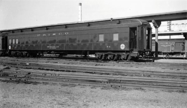 Instruction Car 54 at Springfield, Missouri on December 25, 1960 (Arthur B. Johnson)