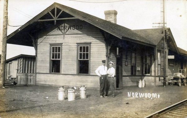 Norwood, Missouri Depot (Postcard)