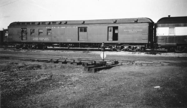 Railway Post Office 114 at Springfield, Missouri on December 7, 1947 (Arthur B. Johnson)