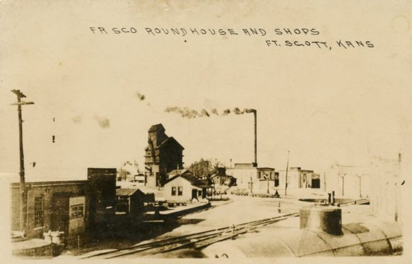 Roundhouse and Shops at Fort Scott, Kansas (Postcard)