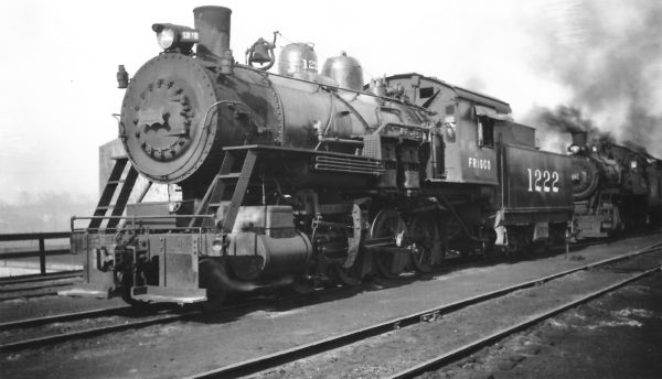 2-8-0 1222 at Springfield, Missouri on February 22, 1948 (Arthur B. Johnson)