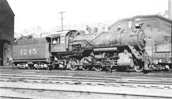 2-8-0 1245 at Kansas City, Missouri on July 4, 1936 (Arthur B. Johnson)