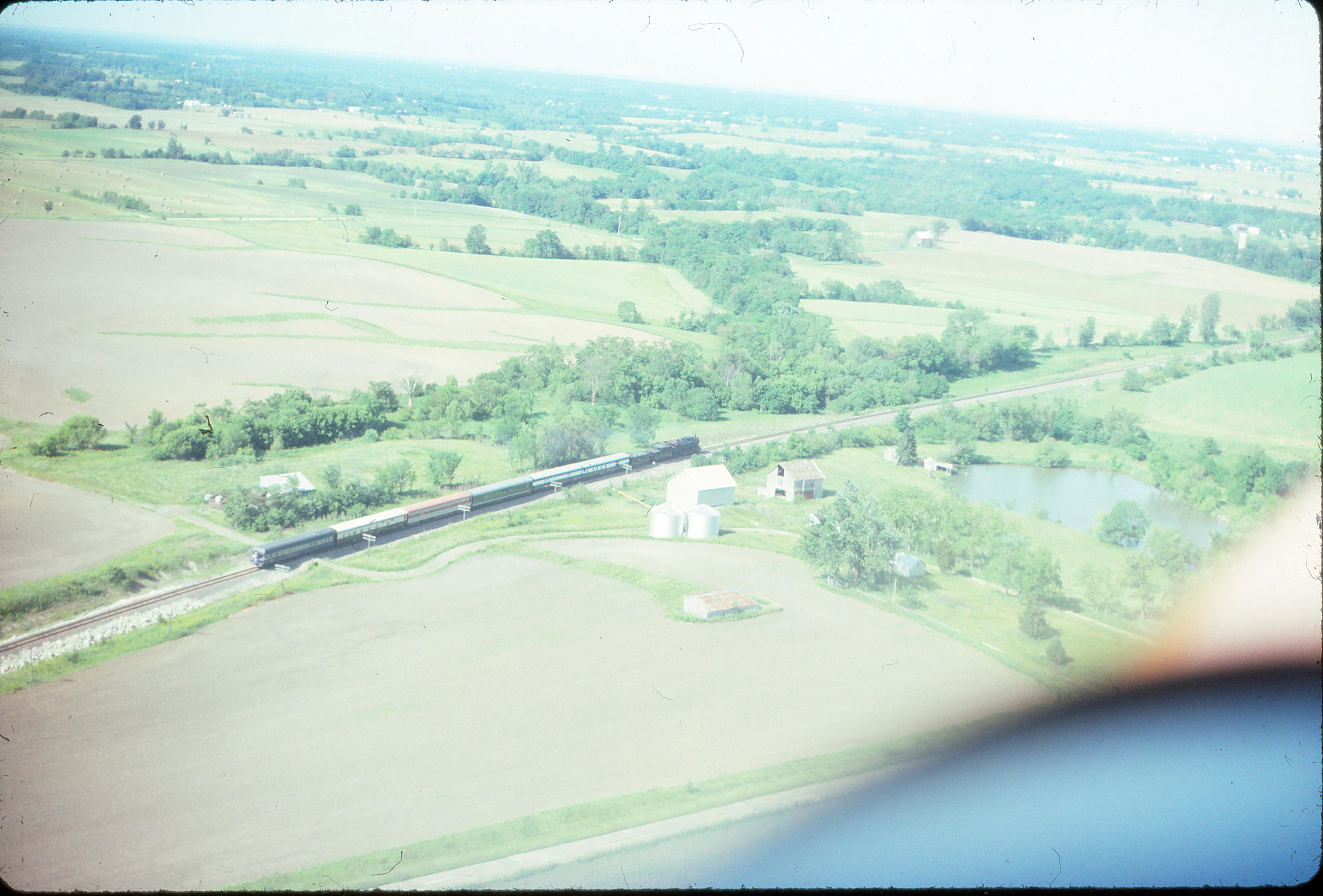 4-8-2 1522 by air in Illinois in June 1993 (Ken McElreath)