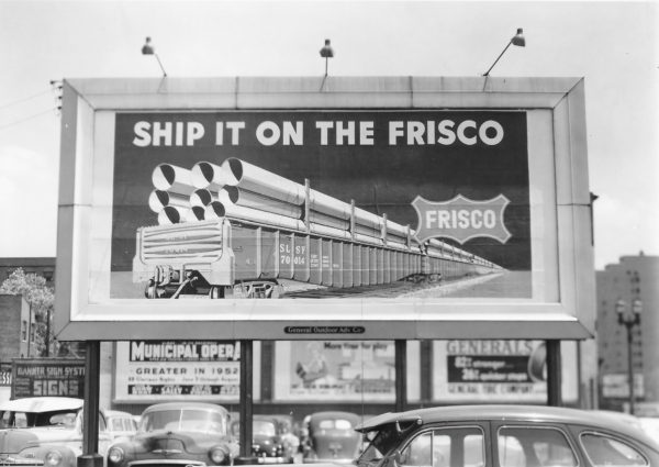 Frisco Billboard at St. Louis, Missouri in June 10, 1952 (General Outdoor Advertising Company)