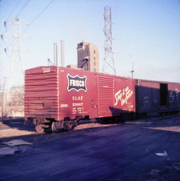 Boxcar 20067 on the Penn Central at Dayton, Ohio in 1971 (Ken McElreath)