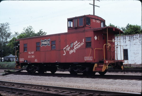 Caboose 1130 at Willow Springs, Missouri in May 1979 (Ken McElreath)