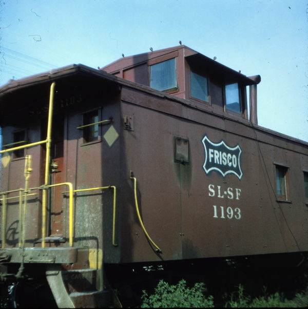 Caboose 1193 at Chaffee, Missouri in 1971 (Ken McElreath)