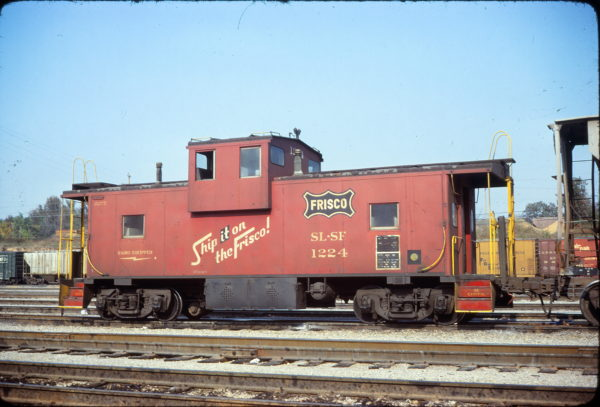 Caboose 1224 at Memphis, Tennessee on November 1, 1978 (Conniff Railroadiana Collection)