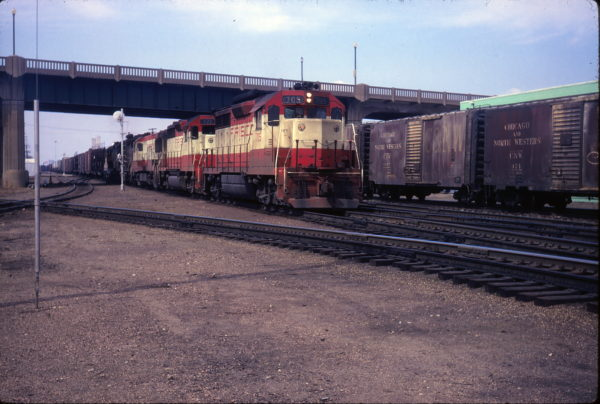 GP35s 705 and 721 at Topeka, Kansas on March 21, 1970 (George Henge)