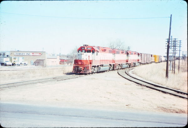 GP38-2 431 at Oklahoma City, Oklahoma in September 1976