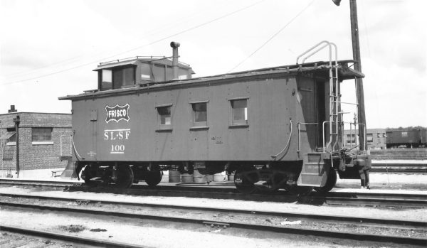 Wooden Caboose 100 at Springfield, Missouri on August 6, 1961 (Arthur B. Johnson)