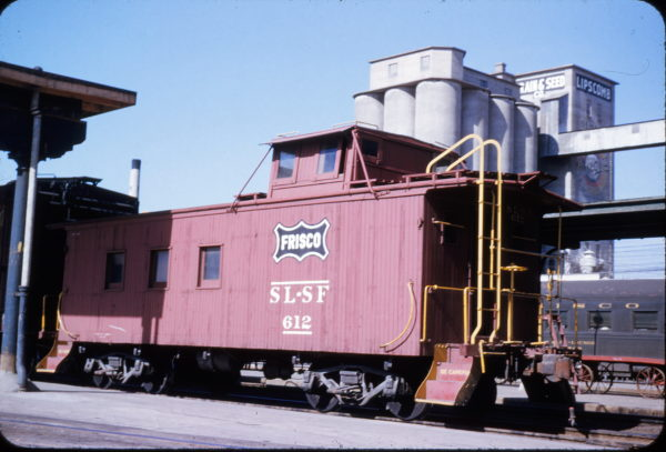 Wooden Caboose 612 at Springfield, Missouri in February 1954 (Don Swanson)