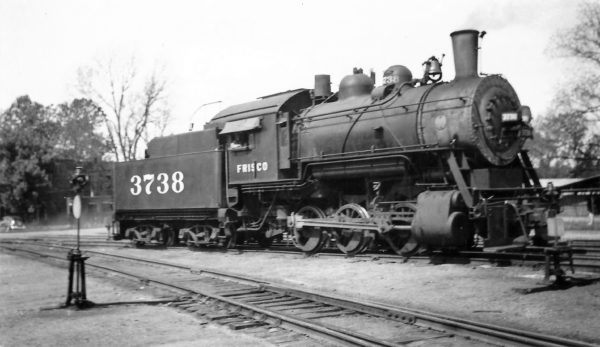 0-6-0 3738 at Fort Smith, Arkansas on April 2, 1948 (Arthur B. Johnson)