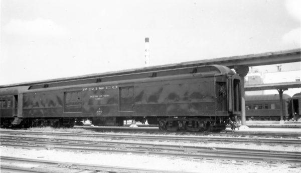 70 Foot Baggage Car 380 at Springfield, Missouri on September 25, 1966 (Arthur B. Johnson)