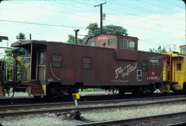 Caboose 11630 (Frisco 1400) at St Louis, Missouri in June 1981 (Ken McElreath)