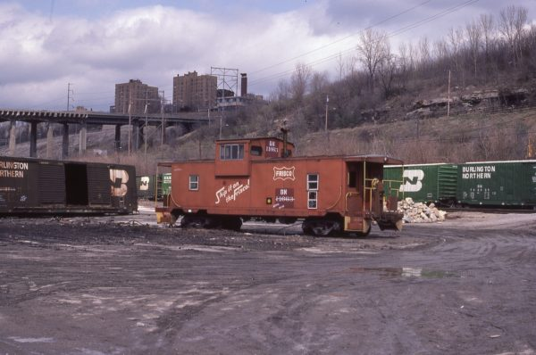 Caboose 11633 (Frisco 1433) at Kansas City, Missouri in April 1983