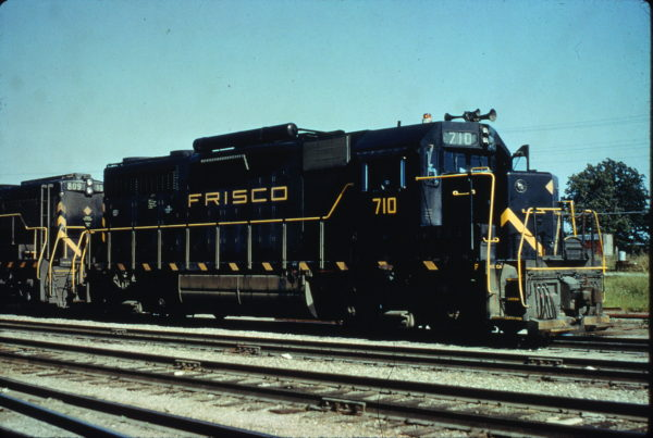 GP35 710 at Springfield, Missouri on July 10, 1965