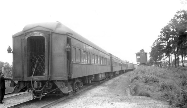 Pullman Sleeper Car Whipple at Atmore, Oklahoma on May 30, 1949 (Arthur B. Johnson)