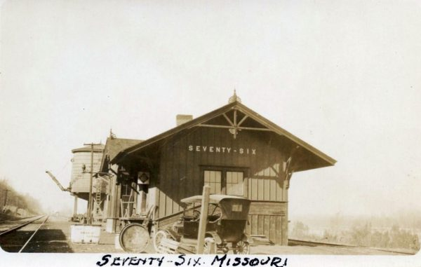 Seventy-Six, Missouri Depot (date unknown)