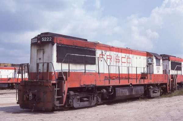 U25B 5222 (Frisco 820) at Springfield, Missouri on September 16, 1981 (J.B. Holder)