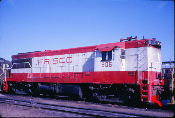 U25B 806 at Springfield, Missouri on March 16, 1969 (David Cash)