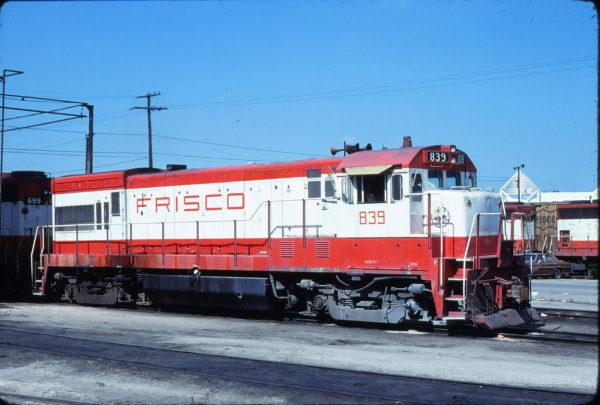 U30B 839 at Kansas City, Missouri in May 1980 (Bill Folsom)