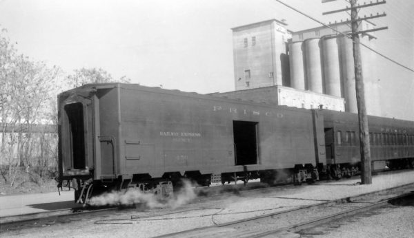 Baggage Car 450 at Springfield, Missouri on February 15, 1959 (Arthur B. Johnson)