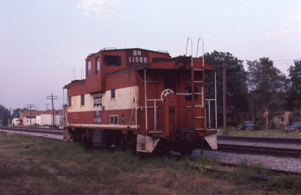 Caboose 11588 (Frisco 1260) at Springfield, Missouri in September 1984