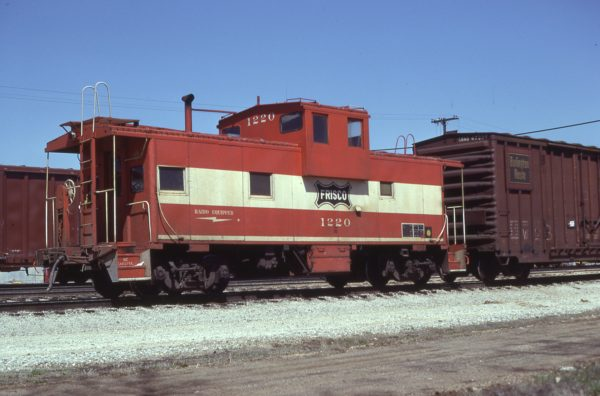 Caboose 1220 (location unknown) in April 1980