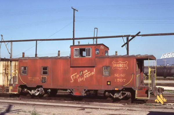 Caboose 1707 at Kansas City, Missouri in July 1978