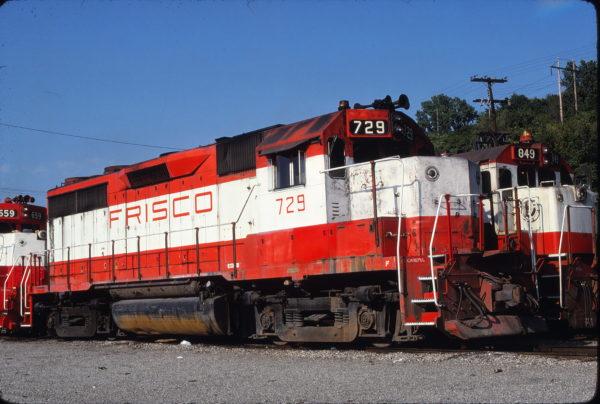 GP35 729 and U30B 849 at Kansas City, Missouri on June 3, 1980 (James Primm)