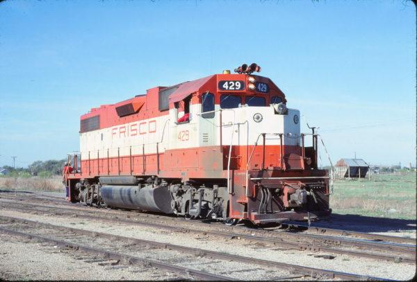 GP38-2 429 (possibly at) Quanah, Texas in April 1978 (David Straw)