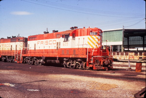 GP7 629 at Fort Smith, Arkansas on August 15, 1973