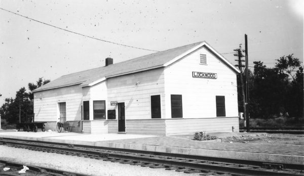 Lockwood, Missouri Depot on July 17, 1949 (Arthur B. Johnson)