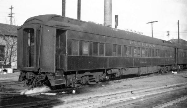 Pullman Sleeper Car Laidlaw at Springfield, Missouri on June 25, 1948 (Arthur B. Johnson)
