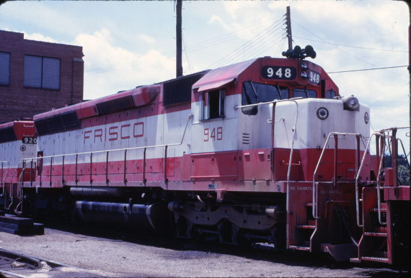 SD45 948 at St. Louis, Missouri in June 1975 (Calvin Banse-Steve Timko)