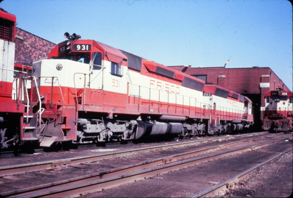 SD45s 931 and 903 at St. Louis, Missouri on March 22, 1980 (R.G. Ragsdale)