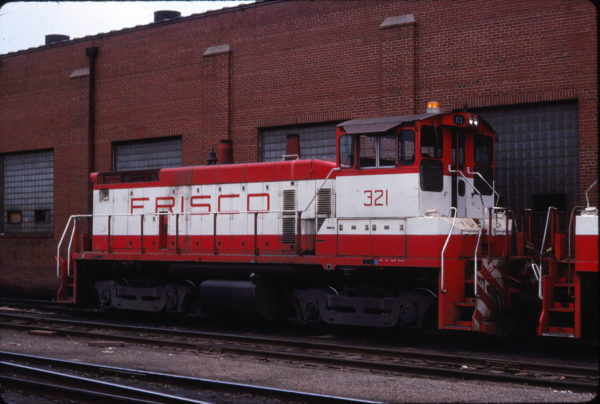SW1500 321 at St. Louis, Missouri in April 1978