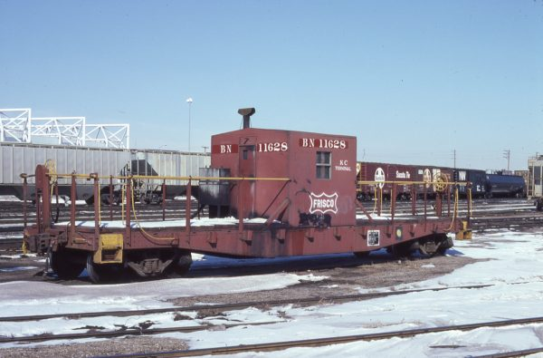 Transfer Caboose 11628 (Frisco 1341) at Kansas City, Missouri on February 13, 1981 (Jim Wilson)
