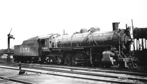 2-8-2 1351 at Springfield, Missouri on June 30, 1947 (Arthur B. Johnson)