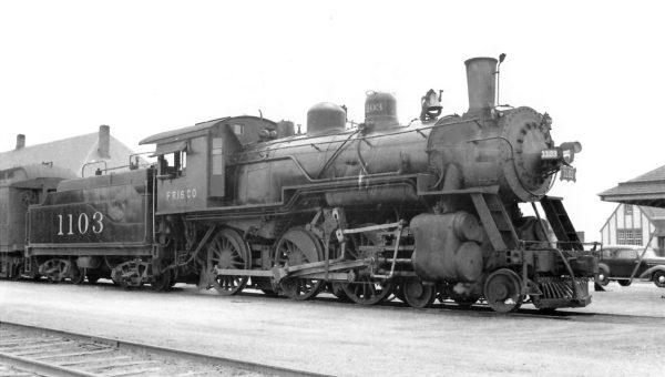4-6-0 1103 at Enid, Oklahoma on August 20, 1939 (Arthur B. Johnson)