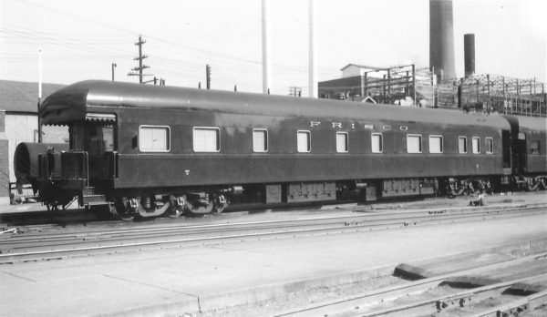 Business Car 7 at Springfield, Missouri on October 26, 1953 (Arthur B. Johnson)