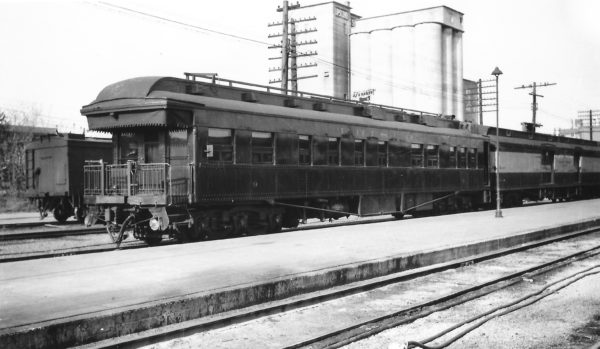 Business Car 9 at Springfield, Missouri on April 17, 1948 (Arthur B. Johnson)