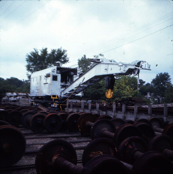 Crane 99029 at St. Louis, Missouri in August 1970 (Ken McElreath)