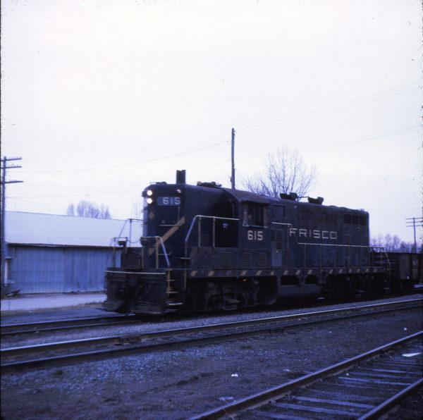 GP7 615 at Cape Girardeau, Missouri in 1969 (Ken McElreath)