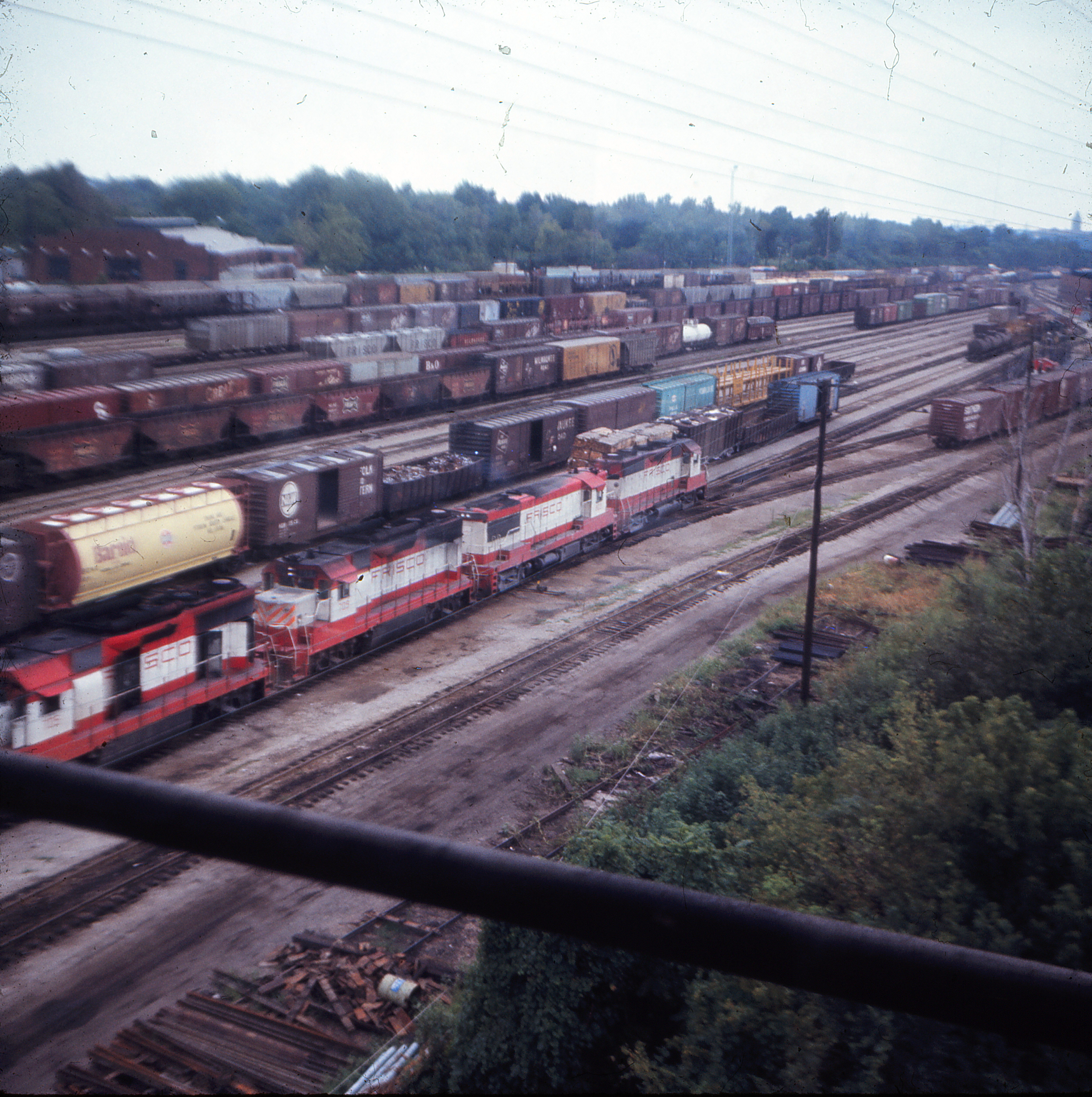 Lindenwood Yard, St. Louis, Missouri in August 1970 (Ken McElreath)