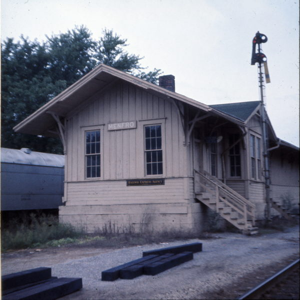 Menfro, Missouri Depot in September 1970 (Ken McElreath)