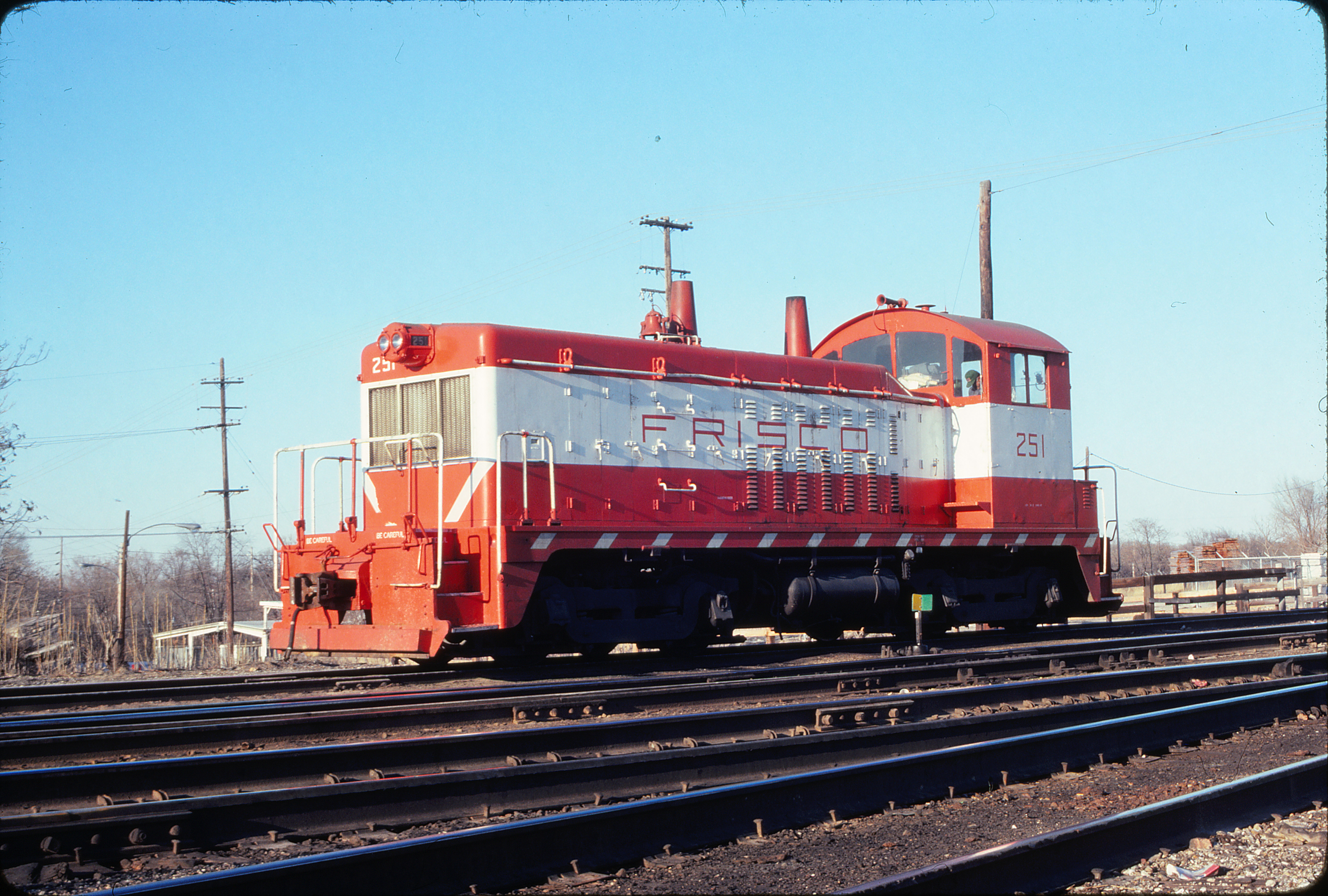 NW2 251 at Springfield, Missouri in March 1980 (Ken McElreath)