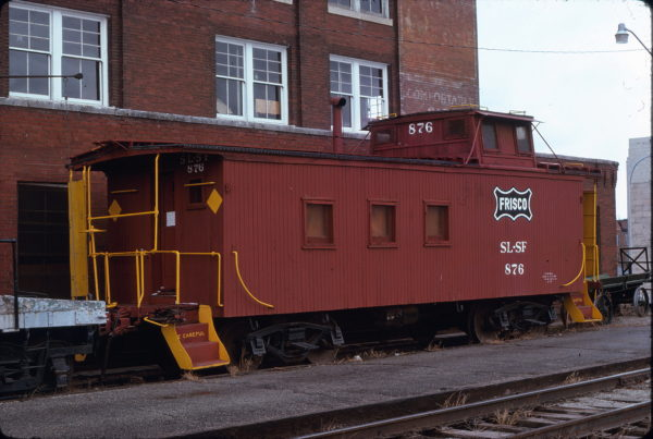 Caboose 876 at Wichita, Kansas on February 26, 1977